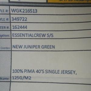 GAP Tops - ** Gap Essential Solid Crew T-Shirt SS Tee Juniper
